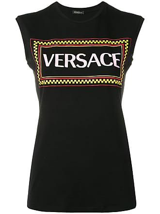 Logo Met Versace Tanktop Logo Zwart Zwart Tanktop Met Versace Versace Tanktop IwIg1qF6n