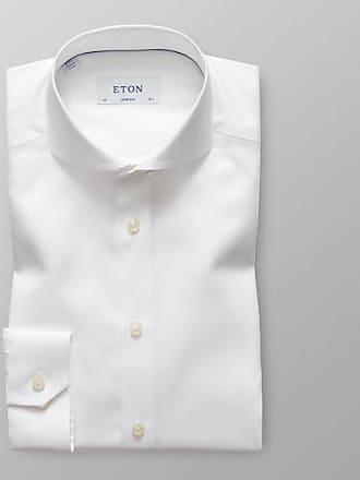Fit Fischgrat Eton tencel Hemd Baumwolle Weißes Slim Super xUWSwqTPfE