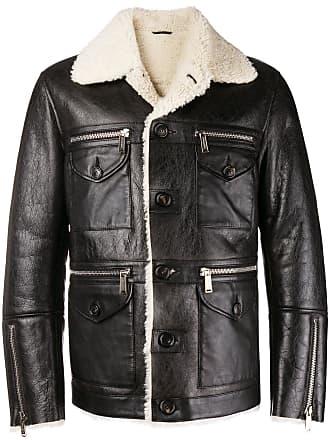 Dsquared2 Lambs Jacket Fur Trimmed Black B7qvqzw