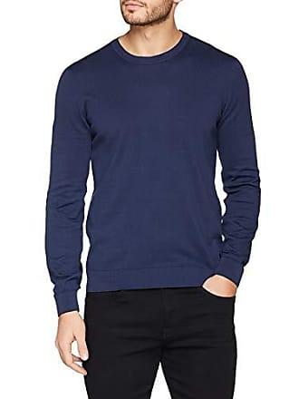 Para Small navy Jersey Round U290 Azul Long u290 Trussardi Hombre Fit Neck Regular Cotton Sleeves Pure Blue fOqaz
