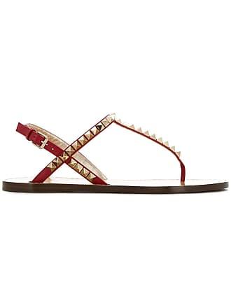 Valentino sandales Rockstud Rouge Valentino Garavani naRgFn