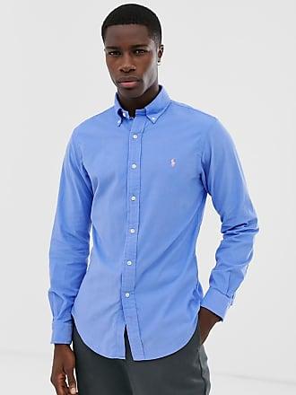 In Colletto Camicia Coste In Con A Velluto Ralph Abbottonato Lauren Polo Azzurro Couture tqwnxTz0P