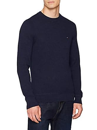 Captain Hilfiger sky 031 Bleu Pull Waffle Cneck Structured Tommy Heather Homme 7xOpnnR