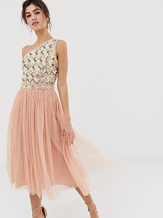 Asos Con Midi Adornos Tul Vestido Design De qpFwHPWq