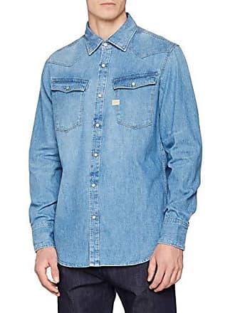 Aged Herren G s star Shirt 4970Large L Blaumedium Vintage 3301 Jeanshemd jSc5Lq3R4A