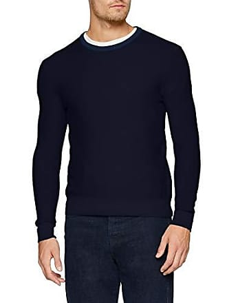 Homme Pull Blue 616 dark Benetton Bleu Ls Sweater q1p1nZ7