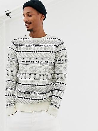 pullover Jacquard Threadbare Weihnachtlicher Mit RentierenCremeweiß T1JulcF3K