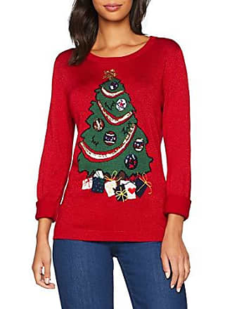 Jumper Femme Christmas Tree Rouge Mela 38 red taille Pull EwvzqI