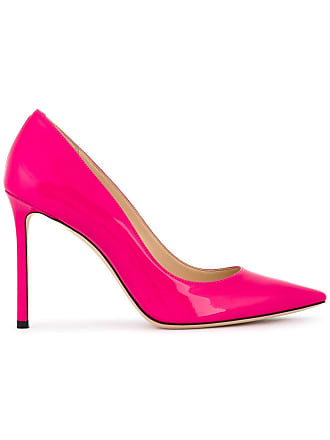 London Shocking Pink Choo Rose 100 Romy Escarpins Jimmy 5txawqI