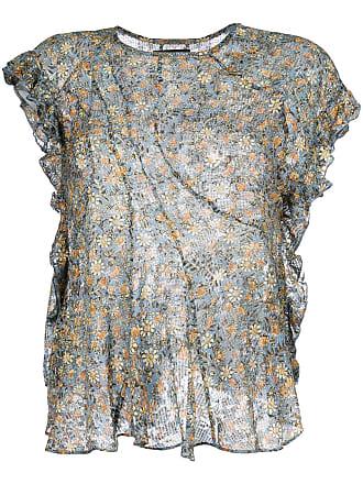 À Multicolore Blouse Isabel Volantée Marant Fleurs qn4BRxt8