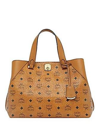 Handtasche Cognac Mcm Damen Visetos Lrg T1w755naBq