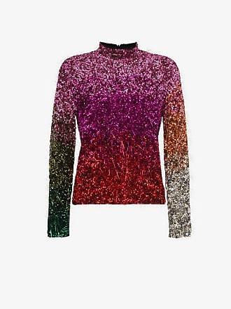 Embellished Ashish Top Neck Tinsel High Silk qcwTB0f