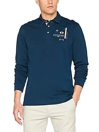 Polo La Homme Blau navy Interlock Martina Jersey 07017 Ls Man grEgqx4