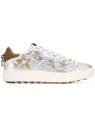up Lace Coach Métallisé Glitter Sneakers YZTYUnEx