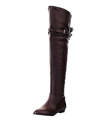 Schnalle Warm Stiefel Bequeme Lange Schuhe Herbst Mit Uh Gefüttert Boots Overknee Winter Flache Damen qzwqXpvt8