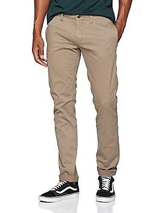 Essential Gris W29 Chino Tommy Pantalones Hombre l34 walnut Jeans 084 Slim qznYaES