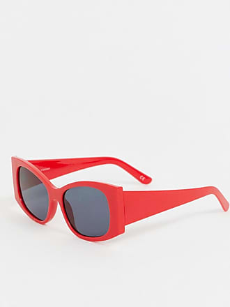 Quadrati Sole Da Oversize Asos Occhiali Rosso qFPw4n