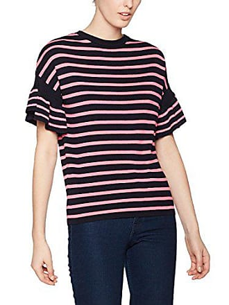 Multicolore Femme 53 And pink Navy Knit Frill Warehouse Stripe Pull XxqpaBafw