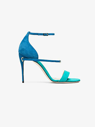 Jennifer 105 Rolando Green Chamandi And Blue Sandals Suede ZwgXrZ