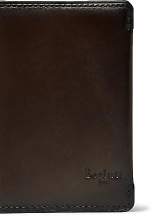 Brown Berluti Leather Ideal Cardholder Bifold xSSIv6