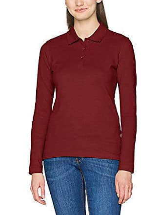 Polo Rojo Clique burgundy Classic Mujer 42 Long Sleeved Marion Womens CqSpwqX