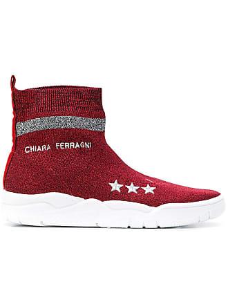 Chiara Logo Sneakers Sock Ferragni Rouge AOwZq7x