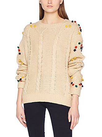 tamaño s 38 Cables Cream Loves Fabricante Pompoms Para Beige Sweater Del Sudadera Mujer Pepaloves Pepa 6qSwvEvP