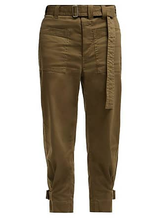 PswlUtility Khaki Schouler Slouchy Cotton Twill Proenza Womens Trousers EWHIb9eYD2