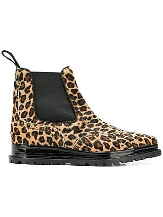 Sacai Chelsea Zwart Boots Leopard Print qYrwYXp