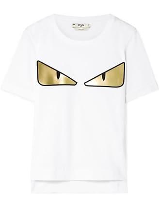 En Jersey Coton De Appliqués Fendi T shirt à WondersBlanc CxBdore