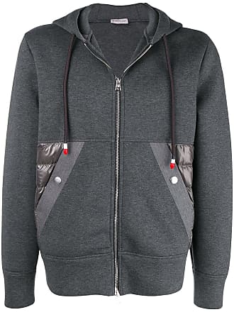 Sweatshirt Zipped Hooded Sweatshirt Gris Hooded POUdwd