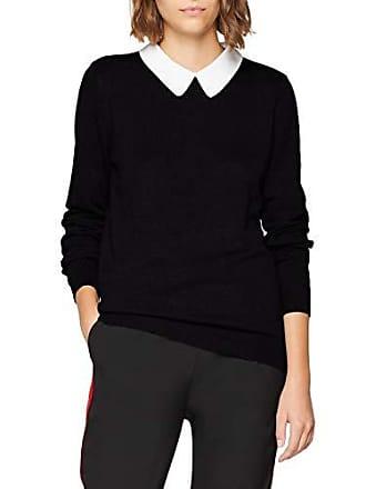Femme Col Manches Blanc Xs Taille Noir Claudine Pimkie Longues Pull 04E7qWZ
