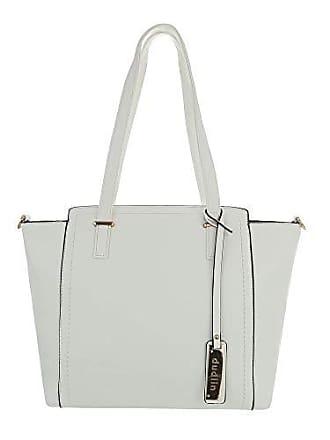 Schultertasche Used Handtasche Damen design Weiß Kunstleder Mittelgroße Ital Optik twPnFCqZp