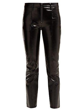 Frame raccourci en Denim cuir verni Pantalon HIDY9WE2