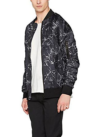 Look Small Crackle Oversized Noir Veste New Bomber Homme a1d6na