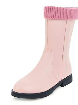 Outdoors 31 Damen Stiefel Pink High Eu Flats Runde Halbschaft Easemax Süße Top YOqTxCTvw