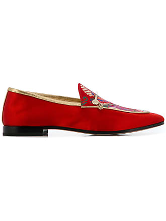 Floral Embroidered Loafers Fabi Rouge Floral Fabi fnqwWWaFEx