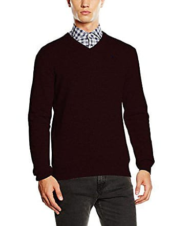 Suéter M Rojo Lambswool Clothing V Hackett uk berry Hombre Neck SFOWA46