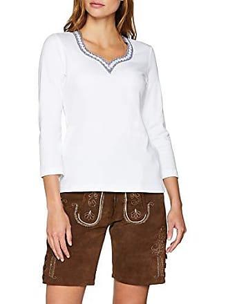 M Trachtenshirts Femme Weiss marine Stoiber Trachten Weiß 318204 nwqCE7nv1