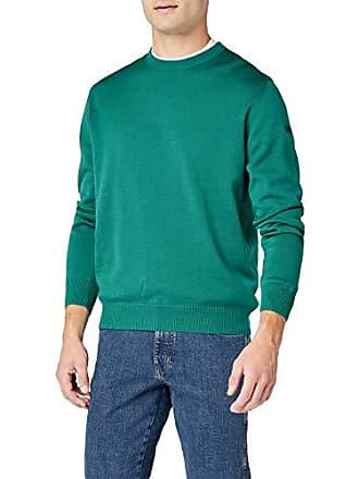 Merinowolle Over Cou Maerz Manches Pull Homme Du Vert 34 Ras Col OxHRqdwq