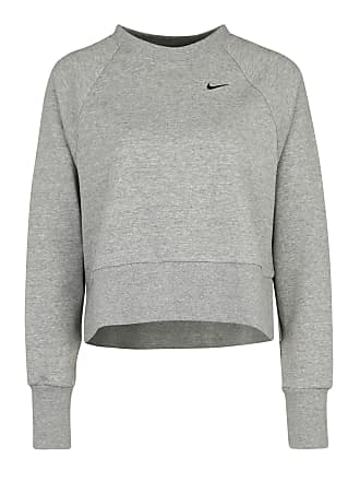 W Sweatshirt Dry Nk Versa Nike Grijs Crew Sportief Ls Top Grx EUqCWA