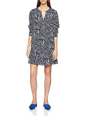 Cobalt Para 38 Berenice Print Azul Heily Mujer Vestido Leaf UFnfzpwqW