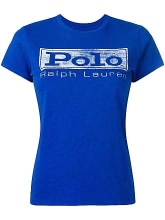 Blauw shirt Polo T Lauren Met Logo Ralph qtR4PY