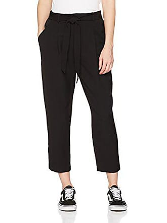 Eu 8 Del Fabricante 36 Mujer talla Pantalones Tie Negro New Petite Olivia Look Waist 7qxzPWUwgO