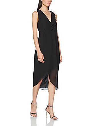 Asymmetric small 100 Vestido Del Sisley black Hem Para Dress Negro Fiesta De talla Fabricante Midi X With 40 Mujer 6xpq7pBE