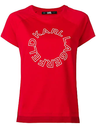 Logo Lagerfeld Karl shirt T Met Rood qxIA0AwCS