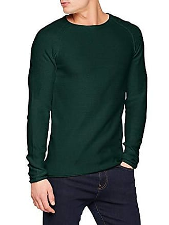 Xx maglione Tailor verde Tom da Deep large Rundhals Basic Denim Langarm 7610 Pullover Lake Mit Green uomo 0TpZwTq