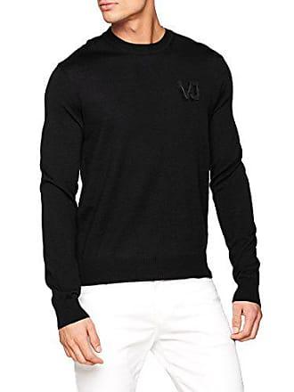 Knitted Uomo E899 Felpa l Versace taglia nero Couture Jeans Large Produttore Sweater Man dxaqXfd