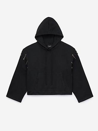Kooples Coton Capuche Noir Sweatshirt The à kwuOPiXZT