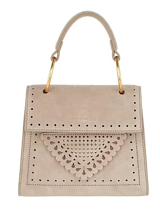 Small Crossbody Lace Taupe Beige Suede Bag Coccinelle Handle Satchel 6fOSXwq4